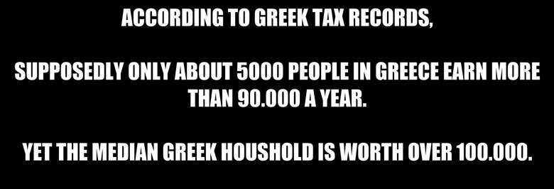 this might get thumbed into oblivion. I know they have high unemployment, but it is their own fault. They should have paid taxes.. TO GREEN TAN . ABOAT 5000 IN