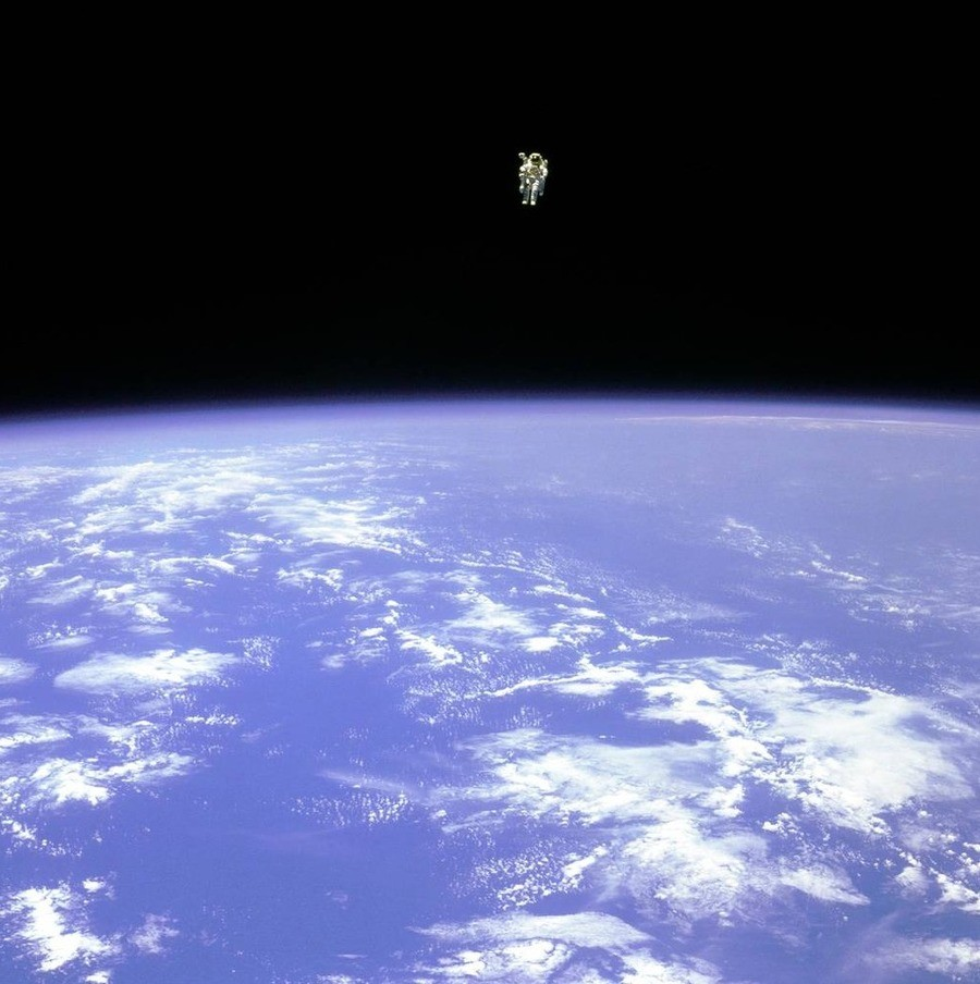 This picture was taken in 1984. If you were this astronaut, who was floating so close to the atmosphere... Imagine if he was a dick to the crew and they decided to leave his ass. Just looking at this photo makes me nervous, like what if he slips and falls. He was the