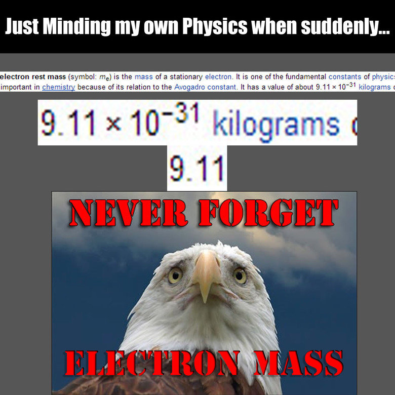 This Title is Horrible. Move Along,. HIS! Minding my WNW ... lection rest mass (symbol: me) is the mass ofa stationary electron. It is one of the fundamental co