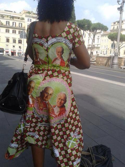 this woman has Faith. .. This dress objectifies men. I bet she never landed a probe on a comet, either.