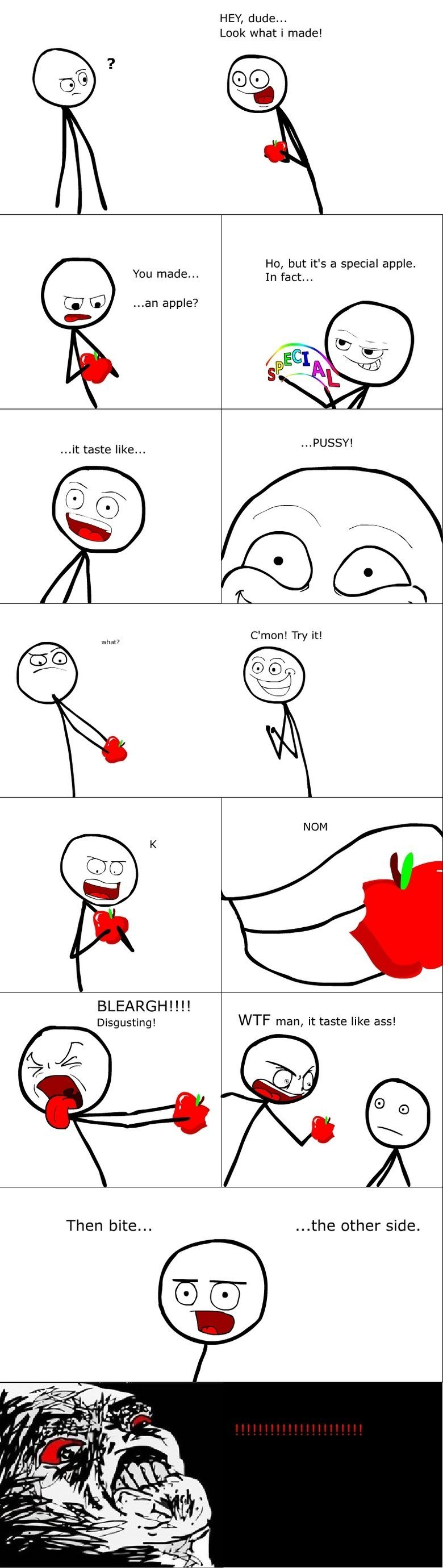 This joke made my day!. Sorry people! Just heard this is a repost but haven't seen it before, new here . Look what i made! You made... an apple? Ho, but it' s a