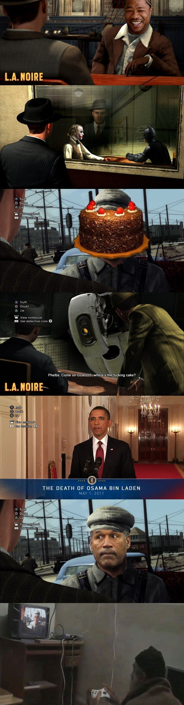 This Looks Shopped. I didn't make these, I just put together the compilation. These are a few of the winners from the LA Noire Photoshop contest on Kotaku.com..