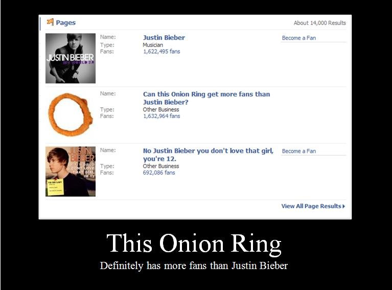 This Onion Ring. Maybe humanity isn't doomed after all.... About Resists Justin Haber Become an Fan Musician mull. -1. 95 Fans Can this Union Ring get more fans