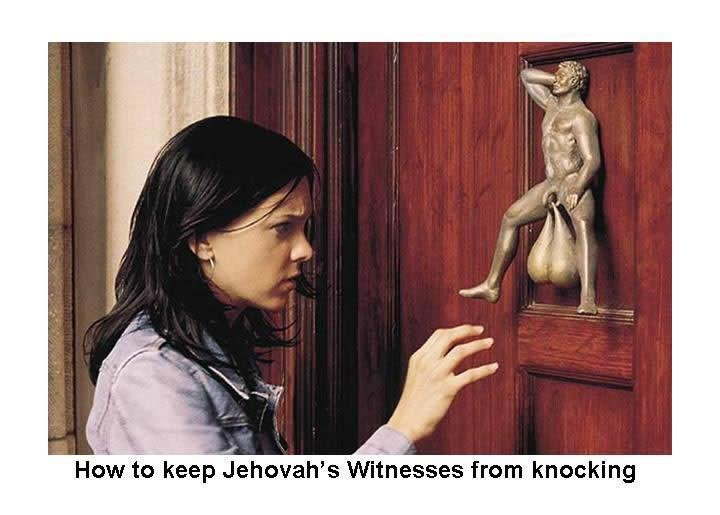 This Just Might Work. . How to keep showah' s '! ?,, from knocking. what about ringing the bell?