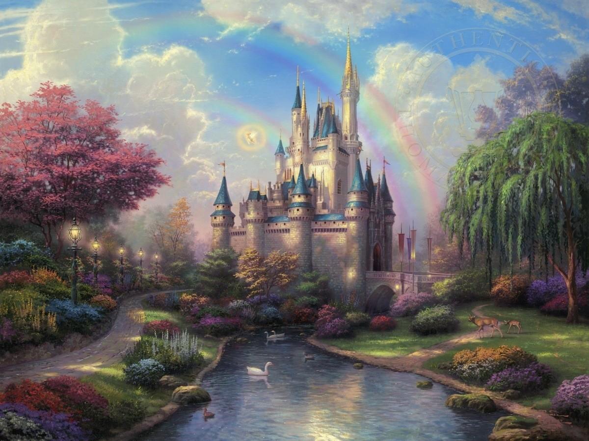 Thomas Kinkade Disney Art. .. Wow, pretty.