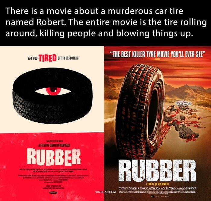 Thought you should know. Just when you think that movies couldn't get any more retarded, here you go. There is a movie about a murderous car tire named Robert.