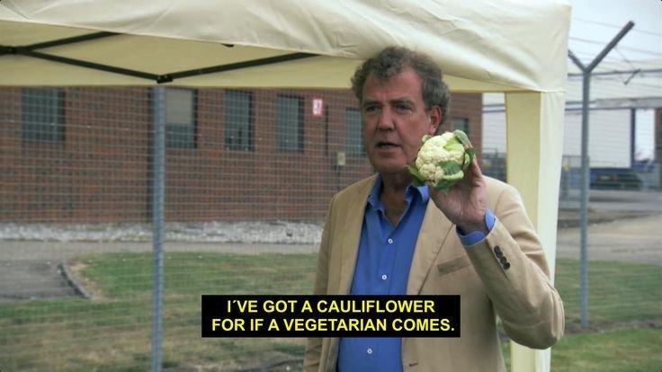 Thoughtful. .. Clarkson looks like a vegetarian.