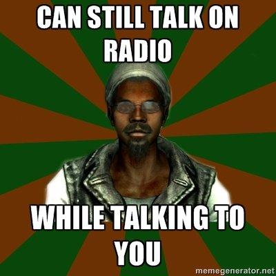 ThreeDog. Awooooooo. MAIO. Because no radio station pre-records its segments...