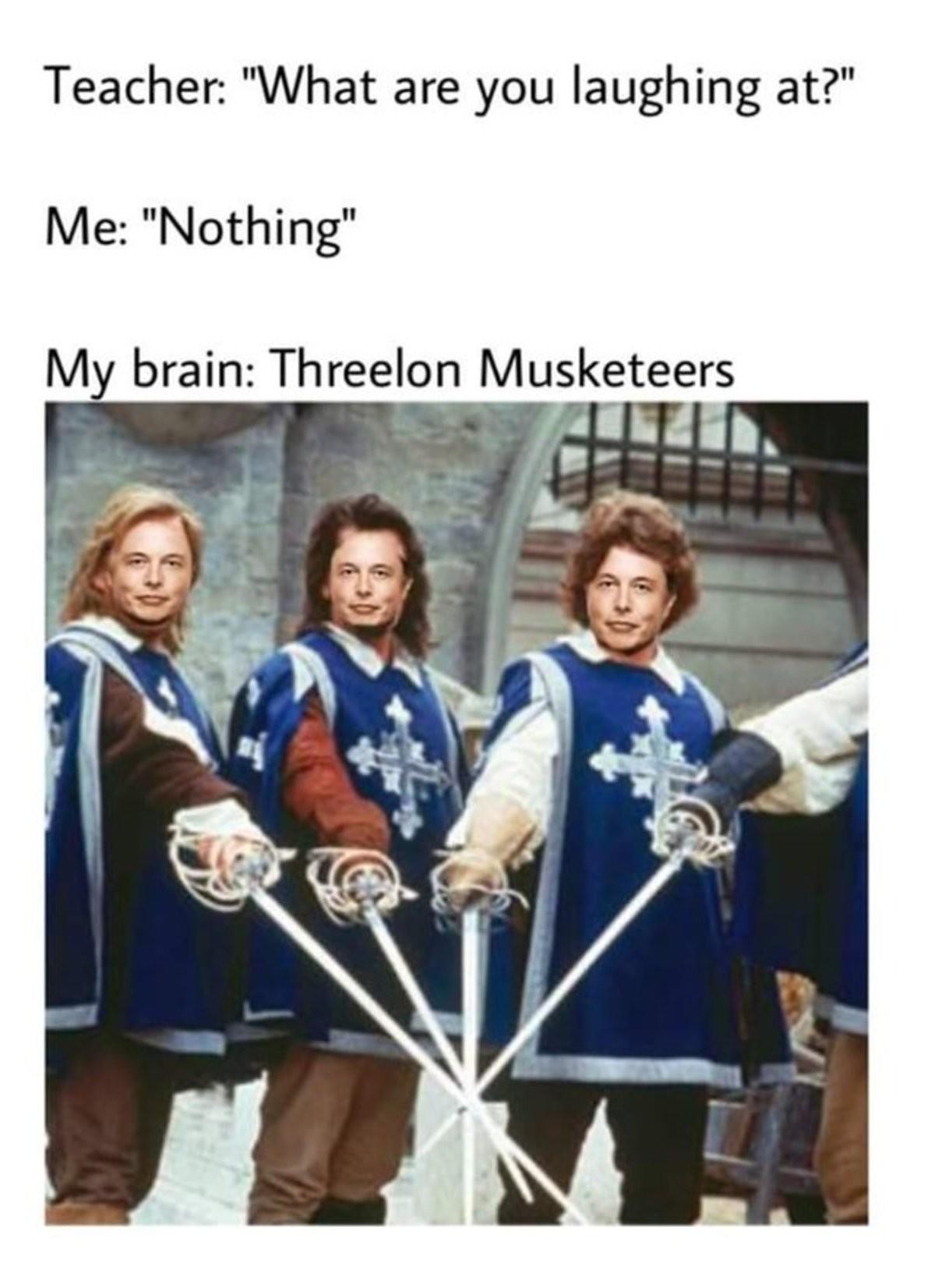 Threelon. .. Who's d'artagnan?