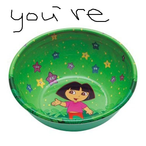 Thumb up if you get it.. You're A-Dora-Bowl.. a bowful of ? Well thats not nice