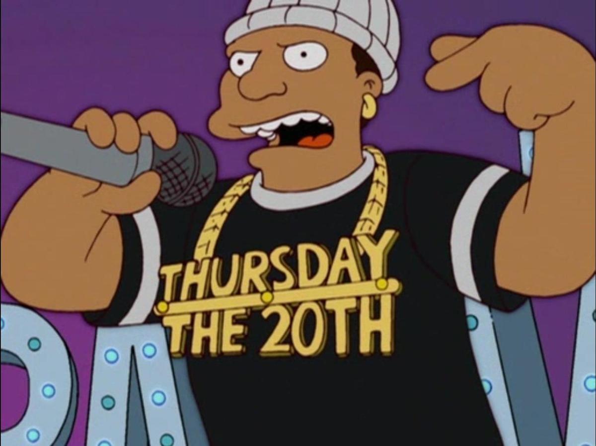Thursday the 20th. .
