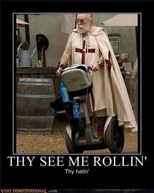 Thy see me rolling. Thy shalt hate. Thy hatin'. Haters shallt hate