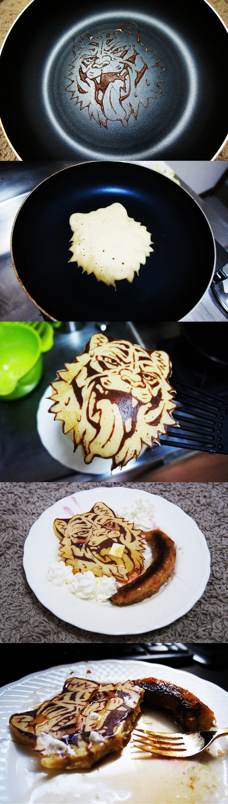 Tiger Pancake. .. that tiger face is from gay porn