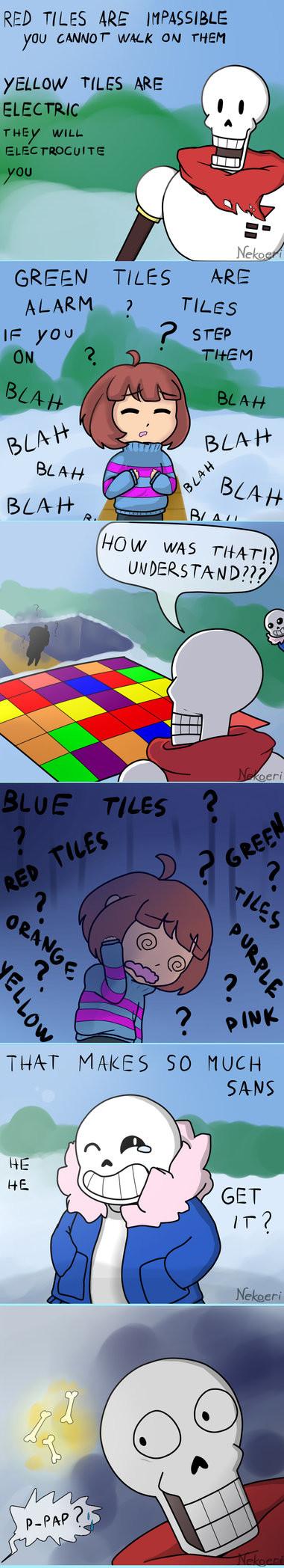 "Tiles...?!. Artist: Nekoeri. Yoo "" WALK {IN THEN MT MACES so tifa: .."