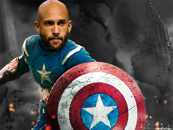 Tim Howard. He kept the US in the game for so long. What a great keeper. Final Score: Belgium-2 /USA-1.. the US was no match. Howard was amazing