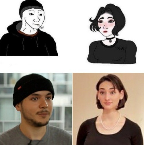 Tim Pool. .. Tim's skull cap has a +10 charisma buff, if he takes it off then all women lose interest in him.