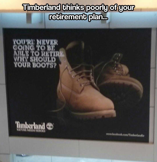 Timberland has no faith in you. Timberland has no faith in you… .