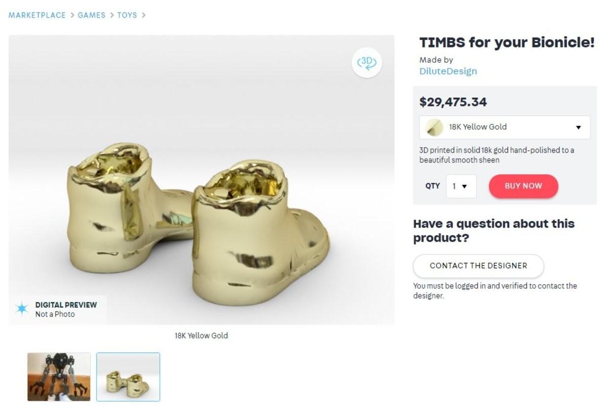 timbs. .. >3d printed gold