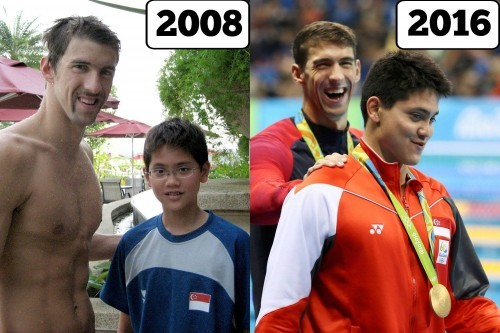 Time flies. .. Michael Phelps looks like he told a bad joke in 2008, and it suddenly became funny by 2016.