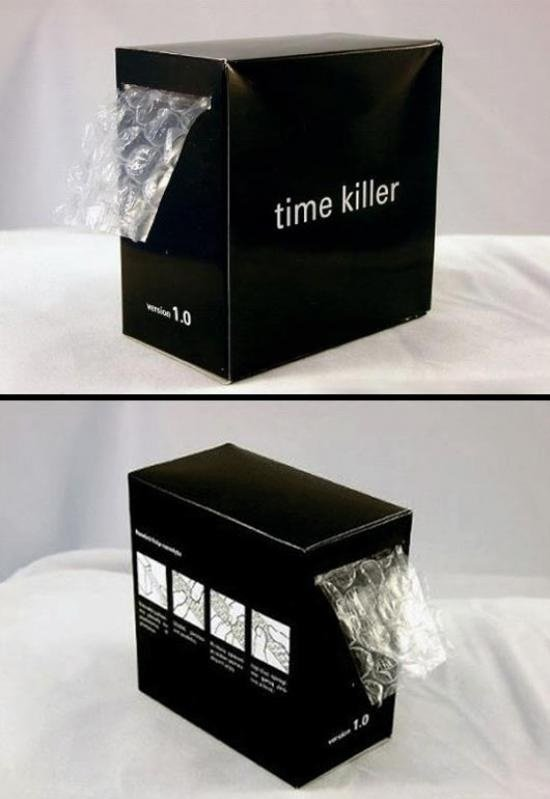 Time killer. .. It's a time waster, a stress reliever, and it's a great way to stay in shape