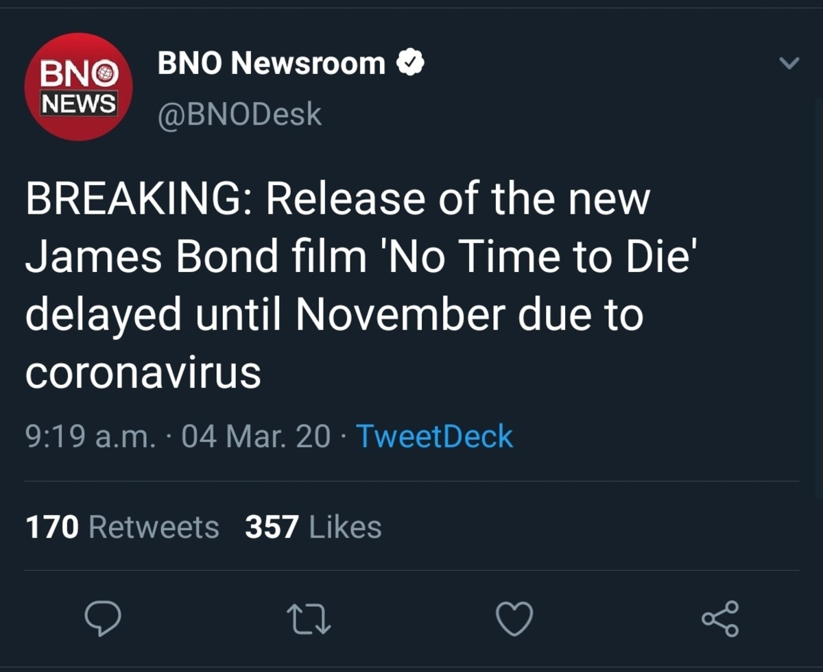 Time to Die. .. Most likely only delaying the release so that people actually go to the theatres.
