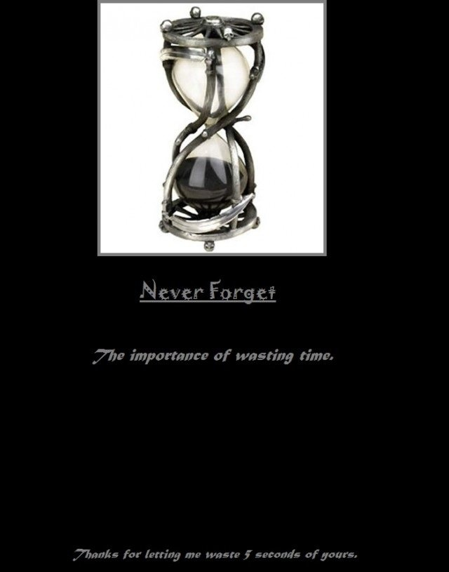 time. .