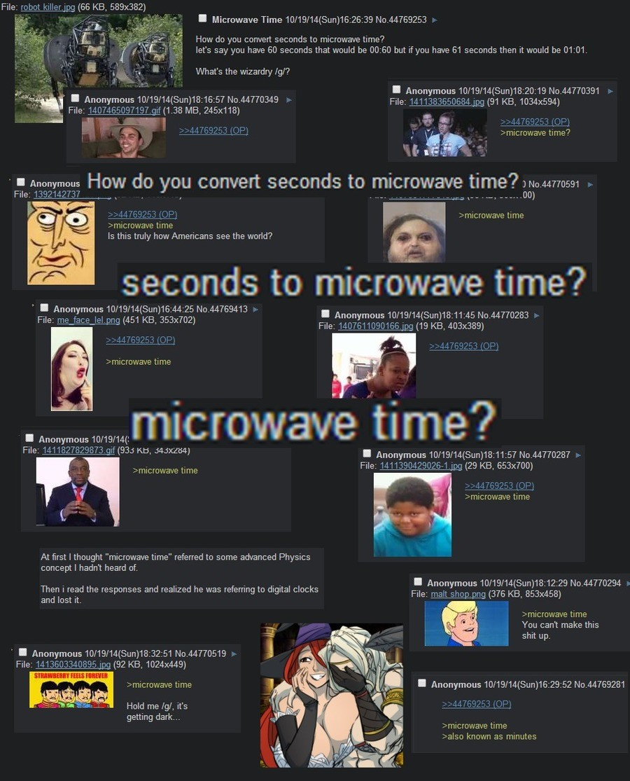 "time. . l. iri., ..' E ""l ""' ;:, rscfl iii; How do you convert seconds to microwave time'? l''. iil, i:. """".?cl, let' s say you have 60 seconds that would be (:"