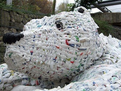 Time. I bet YOU cant make a plastic bag polar bear.