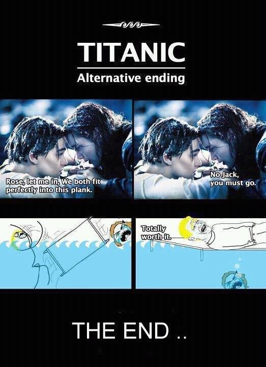 Titanic: Alternate Ending. . arm? TITANIC Alternative ending is plank.