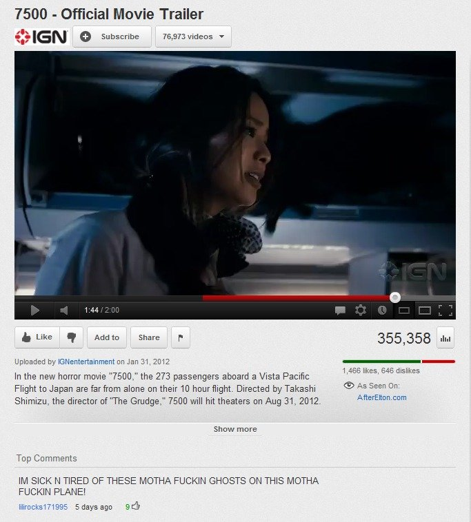 """Title. Description. 7500 - Official Movie Trailer k Like .. t Addict' Share r. 355, 358 ii... Uploaded by on Jan , 2012 In the new horror movie """","""" the 273 pass"""