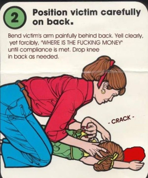 """Title. found on 4chan. l (ll) Position victim carefully I on back. Bend victim' s mm painfully behind buck. YEA clearly, vet . """"WHERE is THE FUCKING MONEY"""" unti"""