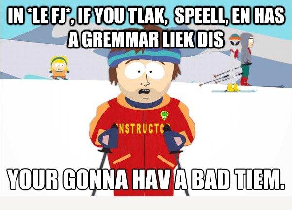 title. lol. look at the grammar nazis..