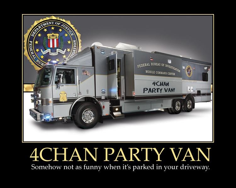 title. . Sc) not as funny whan it' s parked in your ,. AWE now i want a party van...........