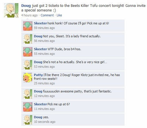 Title. Description. Deng just got 2 tickets to the Beets killer Tofu Concert tonights Goinn invite a special someone :) chours ago . Comment . Like Skeeter henk