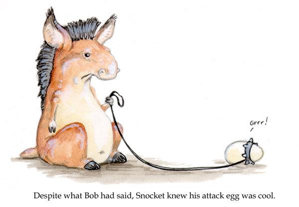 title. hummus. Despite what Bob had said, Snicket knew his attack egg was cool,