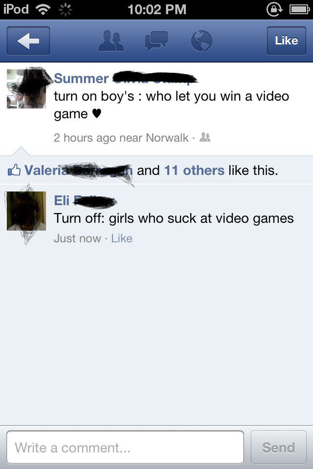 Title. . T- immer turn on boy' s : who let you win a video I game . 2 hours ago near Norwalk I w'),,;, db Valerie .- Turn off: girls who suck at video games Jus