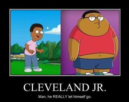 title. . CLEVELAND JR. Man, he REALLY let Hmself gm.. the cleveland show king of the hill got canceled because of this