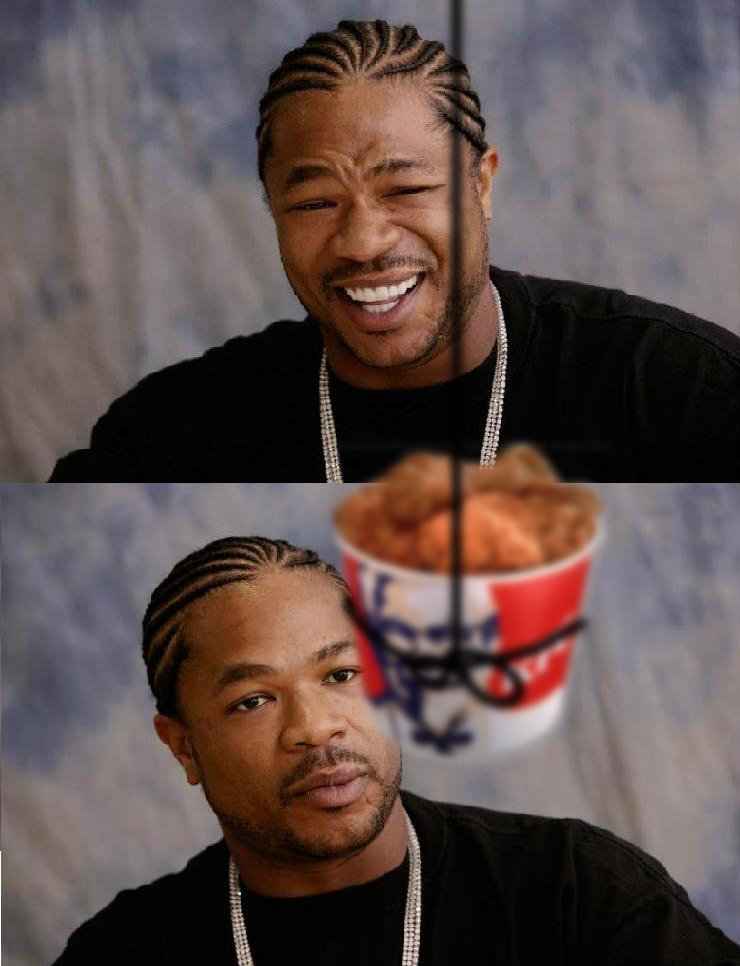 title. Xzibit loves his chicken... logged in to rate, damn this is funny