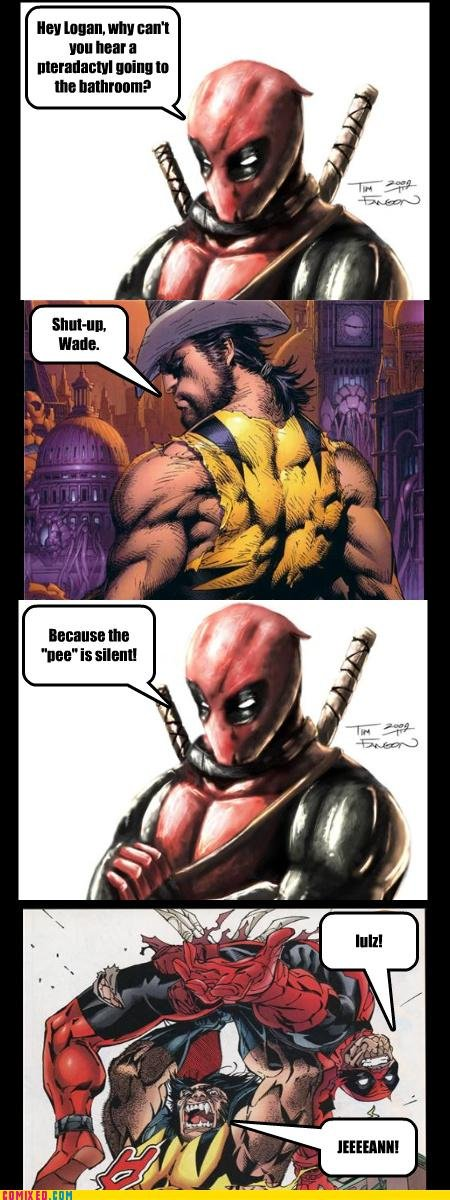 Title. Oh Front Page! You guys are awesome!. Ill! lair: min: In. Deadpool comic dump: activated