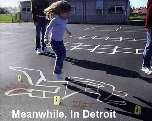 Title. . Detroit. as if white people live in Detroit