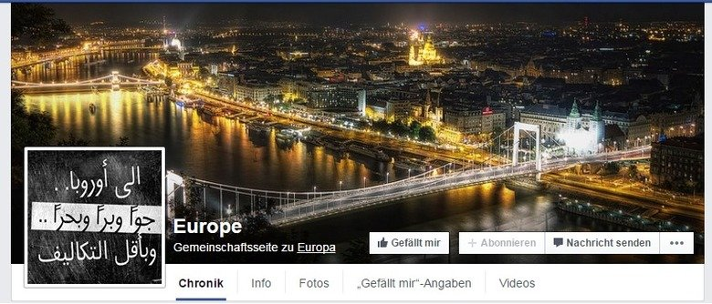 """to all the eurofags. Most of you wont care... But as i browsed through facebook because of research reason i found the page for """"Europe"""". And this one"""