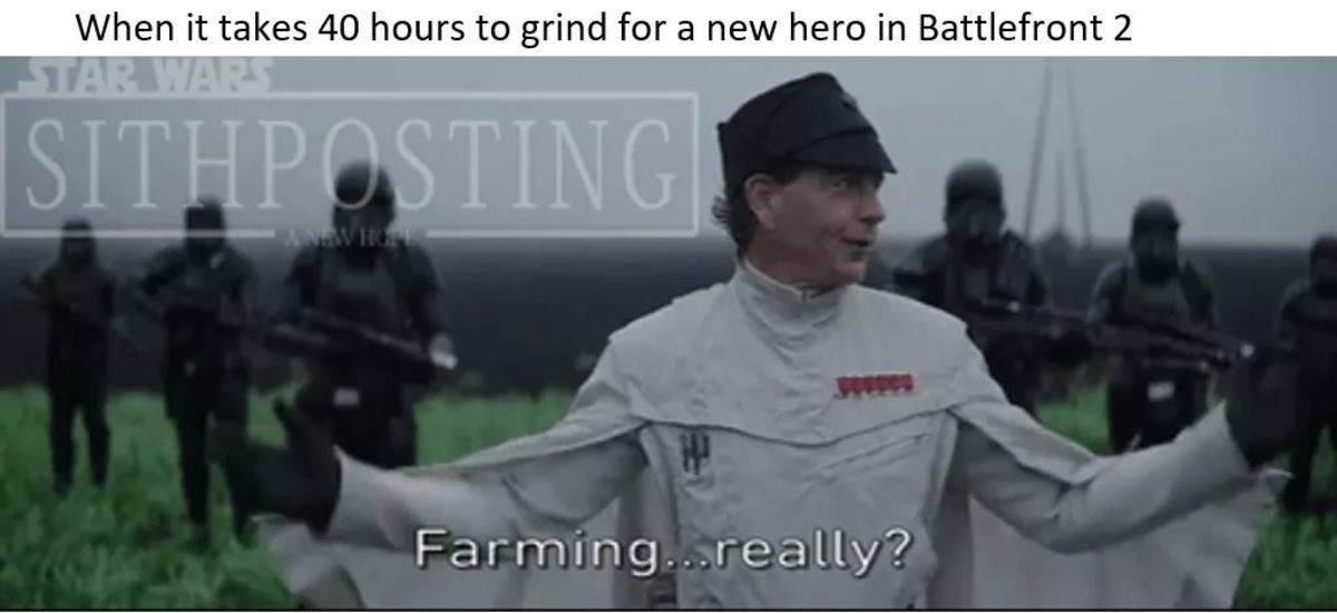 To unlock the full comp, itll be $9.99.. . When it takes 40 hours to grind for !itoi, new '' l in Battlefront W.. EA fooled me twice with the first battlefront and battlefield 1 but never again.