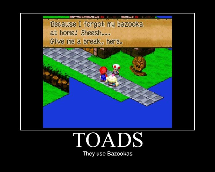 Toads. they use bazookas. at 'dimitri/ TI Smash... They use. dude i remember that game... now i wanna play it hahah