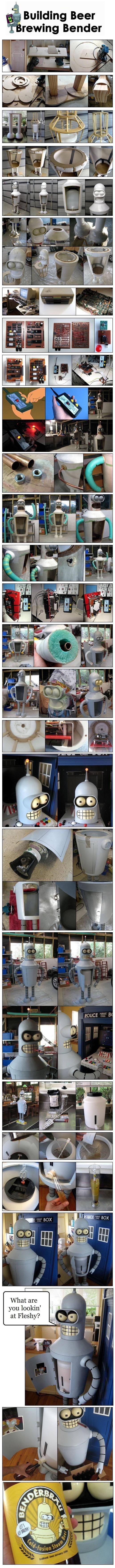 To Make A Bender. Don't be a bumb spare a..... i.',_ ssa] Building Beer rowing Bender. bender approves