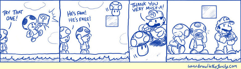 Toads. Evil mario.. can
