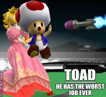 Toad's Job. Sorry if repost ;____;<br /> Heh, credit goes to owner! :3. tll it I I c' i. HEH HE WAISIST. are you kidding? id take missles all the time if i got to hide in her panties and she grabs my bum every 5 seconds