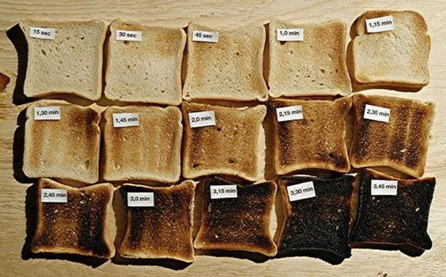 Toast. I get the first two or the last two..