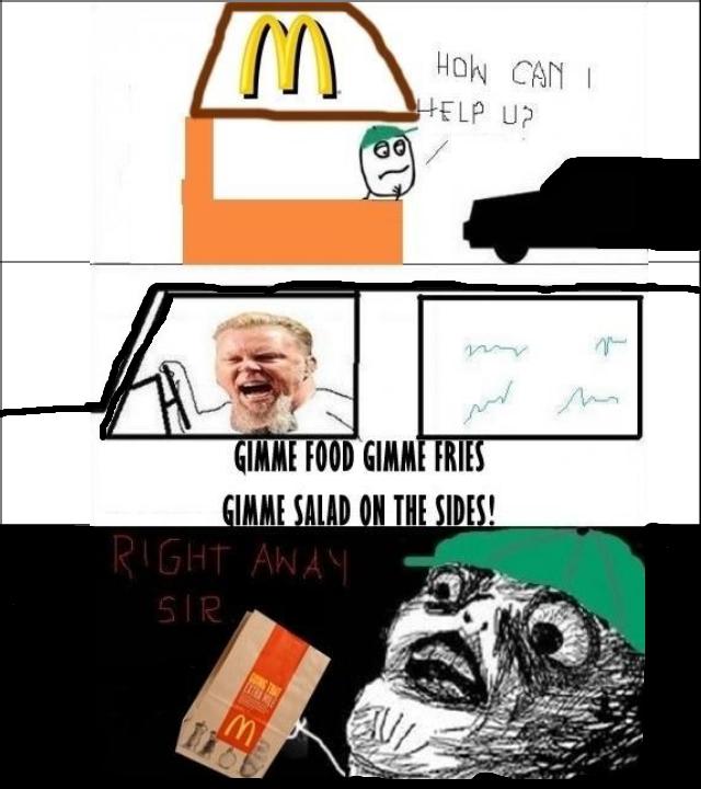 Today at McDonald's. .
