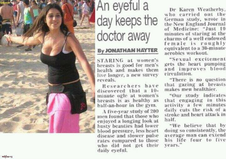 "Today in my daily newspaper i see this.. . An eyeful a Dr Barron 1 . til this New Medicine: ""Just "" 3. '. doctor awa '.gstring at thr i workout, breasts is good"