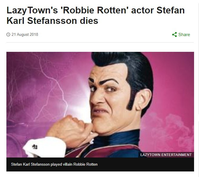 Today is a sad day, Stefan Karl Stefansson has died. WE LOVE YOU STEFAN. YOU WILL ALWAYS BE NUMBER ONE R.I.P 1975-2018 Sorry for the mentions, but I don't have